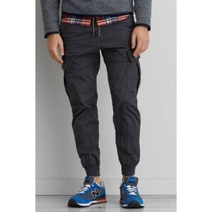 American Eagle Lightweight Grey Jogger Pants Sz L